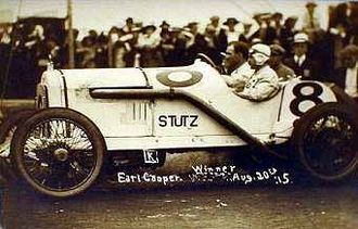 Earl Cooper - Earl Cooper wins the 300-miler at Elgin, Ill., Aug. 20, 1915
