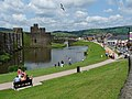 East side of Caerphilly Castle - geograph.org.uk - 1378897.jpg