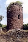 The bergfried of the Ebersburg on the Burgberg