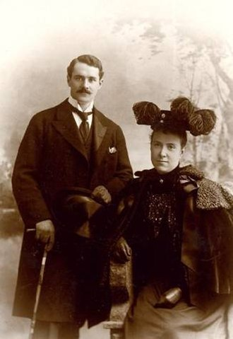 Harold Fowler McCormick - Harold Fowler McCormick with his wife Edith Rockefeller (1895)