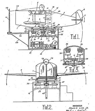Flight simulator - Link Trainer patent drawing, 1930