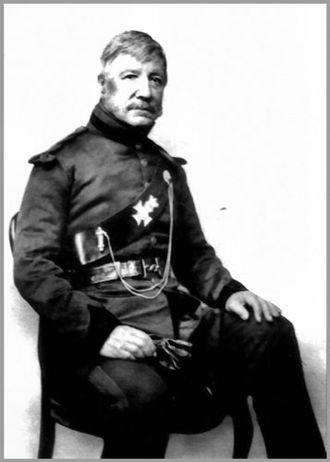 Edmund Lockyer - Edmund Lockyer in uniform of Captain of the Sydney Volunteer Rifle Corps