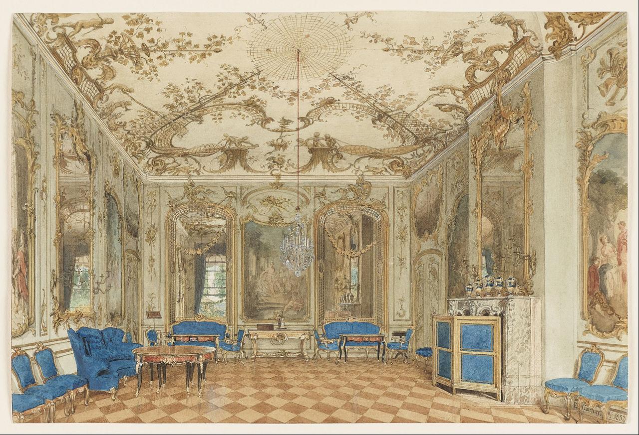 File:Eduard Gaertner - Concert Room of Sanssouci Palace ...