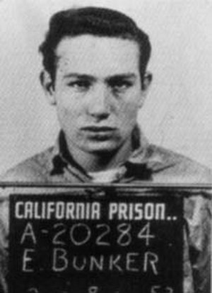Edward Bunker - Edward Bunker mugshot taken at an unknown California prison