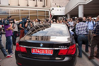 Edward Snowden - Ecuador embassy car at Sheremetyevo Airport in Moscow on June 23, 2013