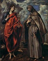 ال گرکو: Saint John the Evangelist and Saint Francis