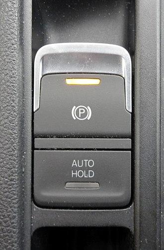 Parking brake - Electric parking brake switch of a Volkswagen Touran