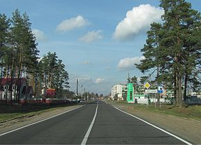 Elizovo from P67 road in Belarus.jpg