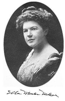 Poet Ella Wheeler Wilcox