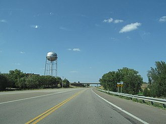 Ellsworth, Kansas - Ellsworth water tower as seen from Kansas State Highway 156 (2012)