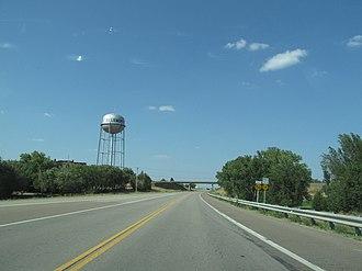 Ellsworth, Kansas - Ellsworth water tower as seen from Kansas State Highway 156 (2012)