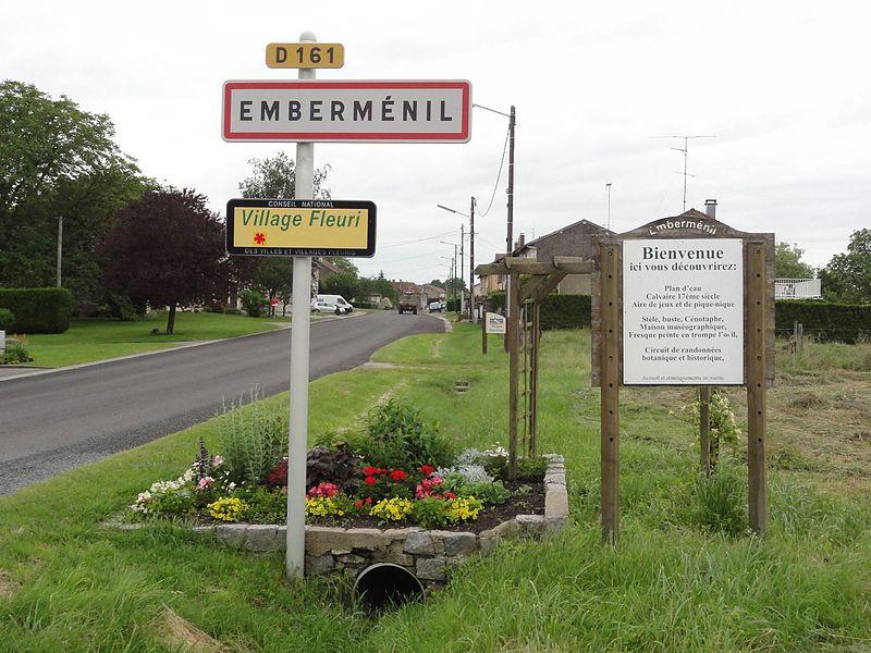 Emberménil (M-et-M) city limit sign