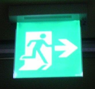 Seoul Metropolitan Subway stations - Emergency Exit Sign - Seoul, South Korea