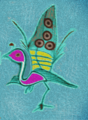 Emerging Peacock. Graphic Art David S. Soriano.png