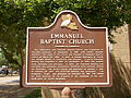 Emmanuel Baptist Church historical marker - Alexandria, Louisiana.JPG