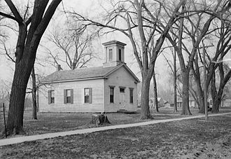 Dakota City, Nebraska - Emmanuel Lutheran Church was the first Lutheran church constructed in Nebraska.  It is listed in the National Register of Historic Places.