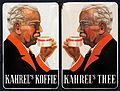 Enamel advertising sign, KAHREL's Koffie Thee.JPG