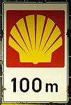Enamel advertising sign, Shell 100m.JPG