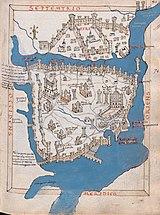 Карта Константинополя работы Кристофоро Буондельмонти, 1420 год