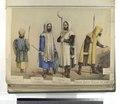Epoca Gotica Siglos del V al VII. Siervo, armado de lanza y escudo; Siervo, tirador de dardo; Siervo, armado de skrama y guadaña, Siervo, armado de lanza (NYPL b14896507-87343).tiff