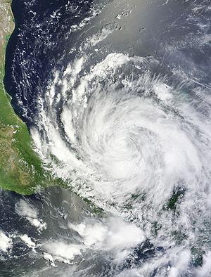 Hurricane Ernesto (2012) - Tropical Storm Ernesto near its second landfall on August 8