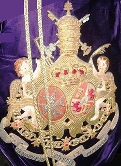 Escudo que aparece en el bacalao de la Hermandad