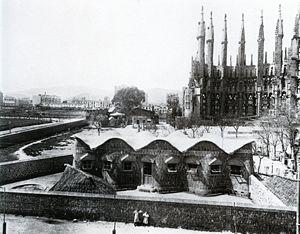 Sagrada Família Schools - The schools in their original location in 1909