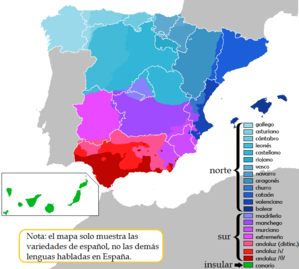 Peninsular Spanish - Dialects in Spain