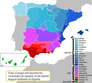 Dialectos De España Mapa.Dialectos Del Castellano En Espana Wikipedia La