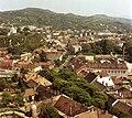 Esztergom, kilátás a várhegyről, szemben a Szent Tamás-hegy. Fortepan 21758.jpg