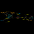 EtymTreeGraph paw-pudeo-pudetNL fillcolor Comm (Gephi original colour BBack1).png