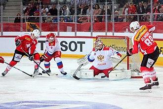 Ivan Provorov - Image: Euro Hockey Challenge, Switzerland vs. Russia, 22nd April 2017 59
