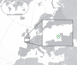 Location of  Jersey  (Dark Green)