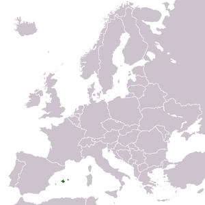 Cabrera Archipelago Maritime-Terrestrial National Park - Image: Europe location Balearic Islands