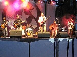 Eva Braun (band) - Eva Braun at the 2008 EXIT festival, from left to right: Stojkov, Glavaški, Rajić, Vasović, Dolinka, Obradović