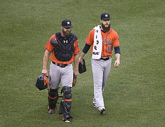 Evan Gattis - Gattis and Dallas Keuchel on August 21, 2016