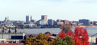 Downtown Evansville Central business district in Indiana, United States