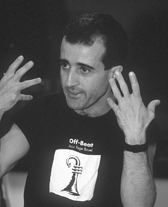 Bobby Previte - Previte during a rehearsal in Moscow, 1991, photo by Mikhail Evstafiev