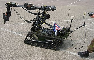Remote control vehicle - Remote controlled vehicle to clear explosives