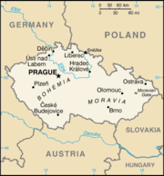 Simple map of the Czech Republic