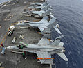 F-18s of CVW-17 on USS Carl Vinson (CVN-70) in May 2014.JPG