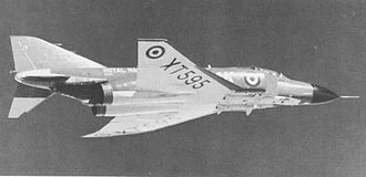 Hawker Siddeley P.1154 - Following the P.1154 cancellation, the Royal Navy purchased the F-4 Phantom II.