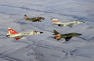 183rd Fighter Wing - An 183d F-84F with other ANG fighters in the early 1970s.