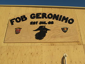 FOB Geronimo (Afghanistan) sign 01.jpg