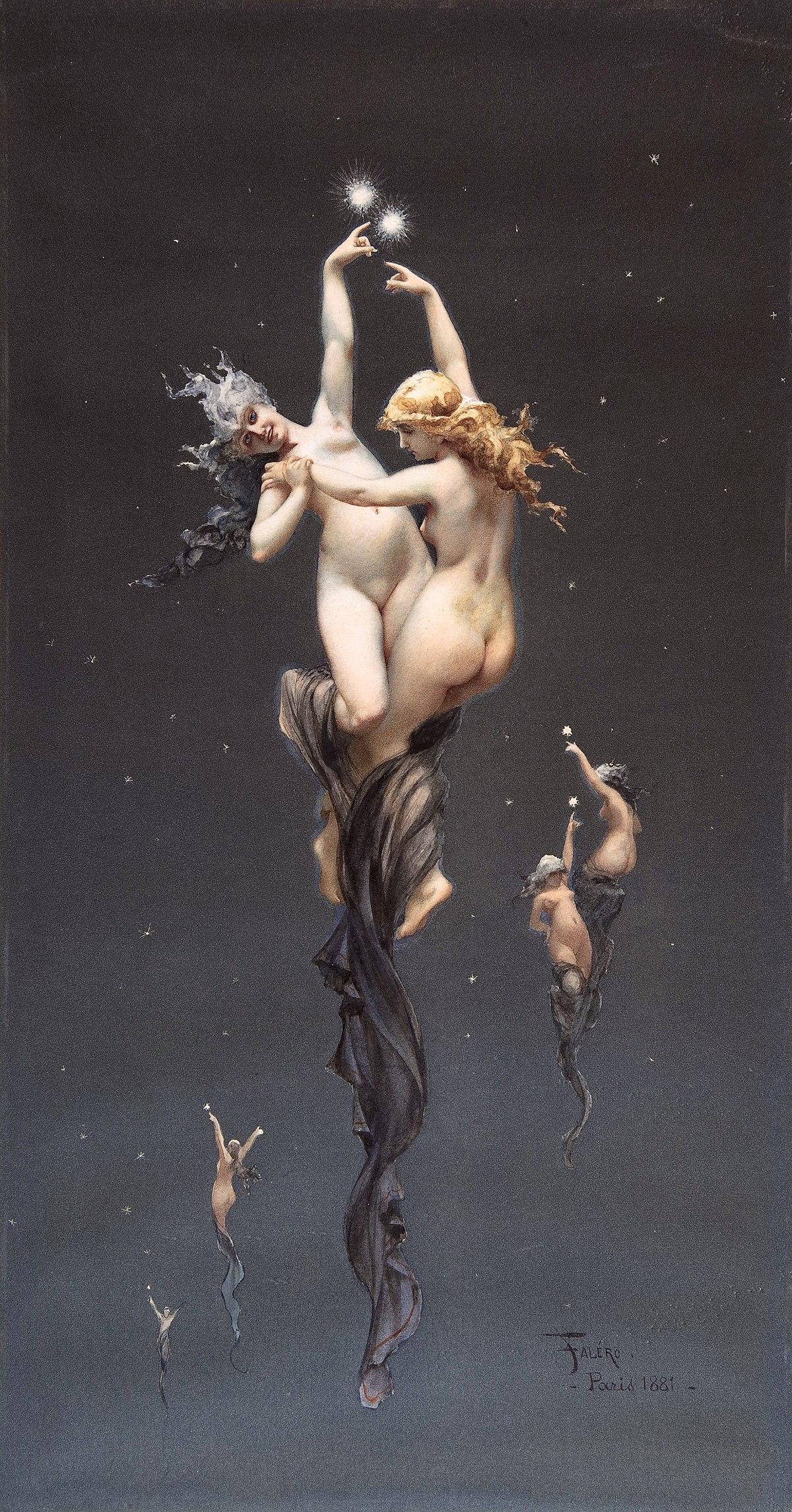 Falero, Luis Ricardo - L'étoile double - 1881.jpg