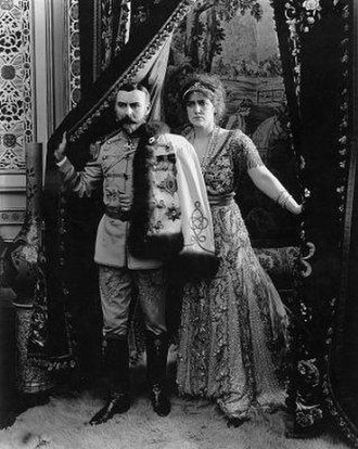 The Fall of the Romanoffs - Alfred Hickman and Nance O'Neil as Nicholas and Alexandra