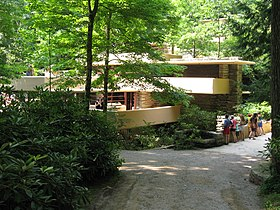 Wonderful Driveway Leading To The Entrance Of Fallingwater