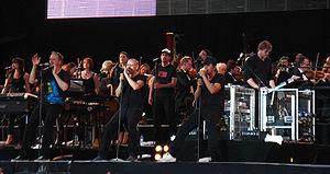 """Die Fantastischen Vier - Die Fantastischen Vier at their """"Heimspiel"""" (""""Home Match"""") gig in 2009."""