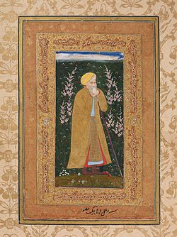 Farrukh Beg's Self-Portrait ca.1615(55.7 x 34.8 cm) Metropolitan Mus N-Y.jpg