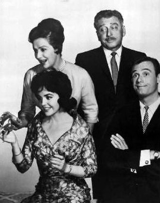 Burt Metcalfe - From TV series Father of the Bride (1961). Back row, L-R: Ruth Warrick and Leon Ames. Front row, L-R: Myrna Fahey and Burt Metcalfe